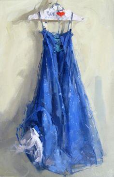 >>>Maggie Siner, Blue Sparkle, oil on canvas. Love her brushwork! Illustrations, Illustration Art, Art Aquarelle, Dress Painting, Blue Sparkles, Still Life Art, Art Graphique, Art For Art Sake, Art Techniques