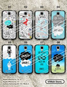 The Fault in Our Stars Samsung S3 S4 CaseSamsung by ViWahStore, $7.99