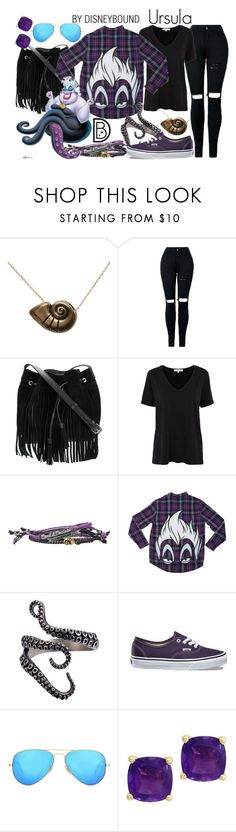 """""""Ursula"""" by leslieakay ❤ liked on Polyvore featuring Disney, Lancaster, Lowie, Vans, Ray-Ban, Effy Jewelry, disney, disneybound, disneycharacter and blackfriday"""
