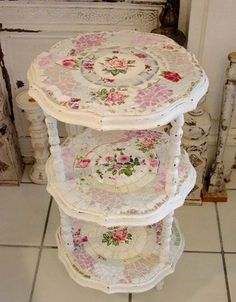 mosaic tiered table