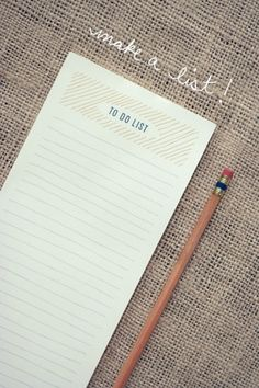 "DIY ""to do list"" Notepad"