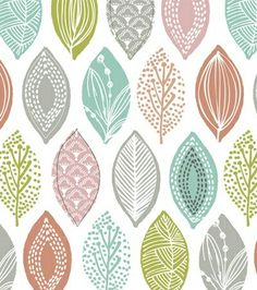 impure colors look modern as a modern leaf print