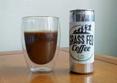 Grass Fed Coffee is smooth, creamy Butter Coffee combining cold brew coffee, grass fed butter, MCT oil and organic chicory
