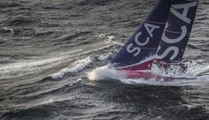 June 09, 2015. Team SCA passing by Costa da Morte - Coast of Death - in Spanish waters during Leg 8 to Lorient Ainhoa Sanchez / Volvo Ocean Race