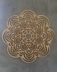 Wooden Black Mandala wall hanging artwork by GravityDesignz Mandala Artwork, Hanging Artwork, Wooden Flowers, Laser Cut Wood, Graphic Design Projects, Mandala Design, Alternative Fashion, Flower Designs, Natural Wood