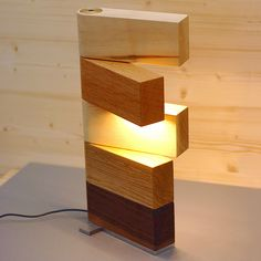 Side Lamp table light by Thomas Lemut, collaborating with the cabinet maker…