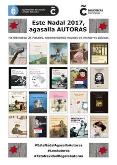 Novelas de ou sobre escritoras clásicas, dispoñibles na Biblioteca Os Rosales #EstaNavidadRegalaAutoras #EsteNadalAgasallaAutoras