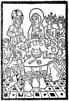 A Feast For The Eyes  36. The Marriage at Cana, from the Spiegel menschlicher Behältnis, Basle 1476.