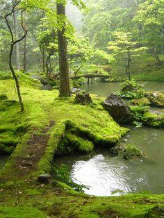 The garden of Saiho Ji in Kyoto, Japan