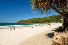 Noosa Heads. Uma das principais cidades da região de Noosa, em Sunshine Coast, no leste da Austrália.