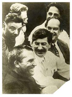 1930 The members of the Politburo of the CPSU (b) M.Kalinin, G.Ordzhonikidze, K.Voroshilov, V.Kuibyshev, J.Stalin, S.Kirov during the XVI Congress of the CPSU (b).