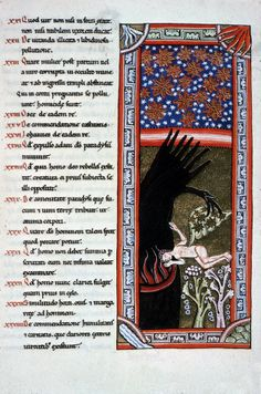 Hildegard of Bingen Scivias Codex: Book III Second Vision German Romanesque 1165 Weisbaden, Landesbib. Ms. Scivias Codex