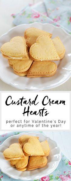 Custard Cream Hearts - perfect for Valentine's Day! #valentinesday #valentines #cookies #nigella