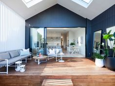 If you had the chance to design a beautiful outdoor space that maximises indoor/outdoor living, how would you do it? Find inspo here. Hamptons Style Homes, Hamptons House, Indoor Outdoor Living, Outdoor Spaces, Outdoor Ideas, Outdoor Decor, Plein Air, First Home, Living Spaces