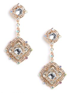 Rose gold drop earrings. This site has awesome stuff