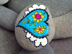 Fairy Tale Heart/ Series/ Painted Rock/ Sandi por LoveFromCapeCod, $35,00