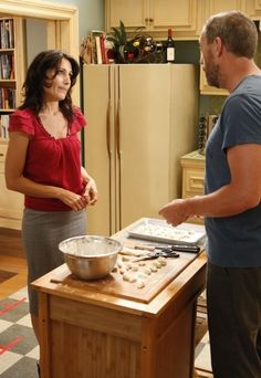 Remember when house and Cuddy dated? Good times. <--yeah, back before House drove his car into her living room.