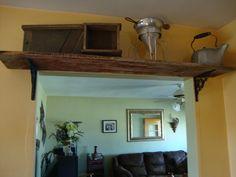 old barn wood shelf and restoration porject cupboard