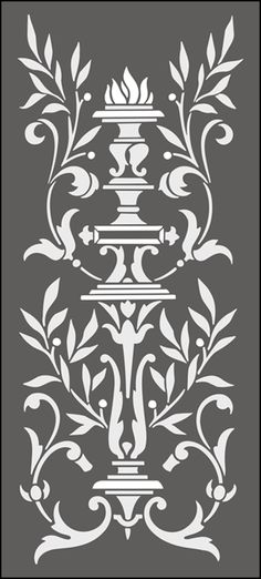 Regency and Empire  Panel No 2 stencils, stensils and stencles