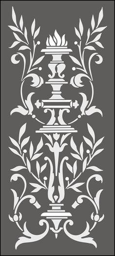Regency y Panel Empire No 2 plantillas, stensils y stencles