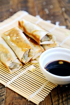 Vegan Spring Rolls from the Divine Healthy Food blog