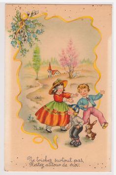 CPA-illustration-Ne-trichez-surtout-pas-enfants-jeux-colin-maillard