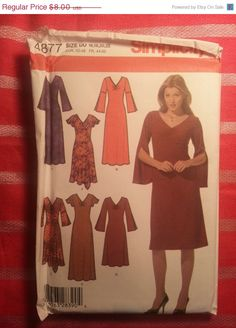 Uncut Simplicity Sewing Pattern 4877 16182022 by EarthToMarrs