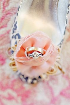 a classic idea that shows off both your rings and your fabulous shoes!