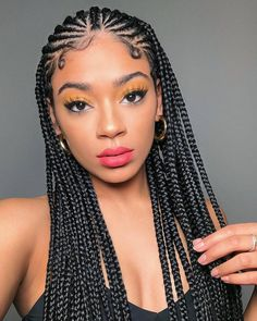 43 Cool Blonde Box Braids Hairstyles to Try - Hairstyles Trends Box Braids Hairstyles, Girl Hairstyles, Cornrows With Box Braids, Goddess Hairstyles, Hairstyles 2018, Hairstyle Ideas, Braids Cornrows, Teenage Hairstyles, Dreadlock Hairstyles