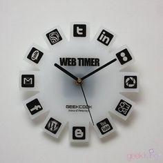 Geek Clock / Social Media Clock
