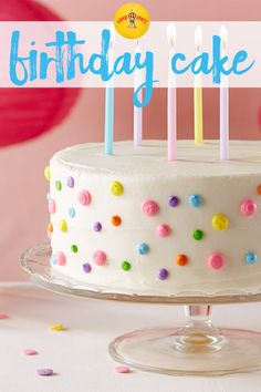 This easy-to-prepare yellow cake recipe with buttercream frosting will be welcomed at any birthday celebration.It's the perfect cake to eat with ice cream, too!