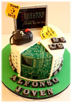 Blend of all things techy on a cake.