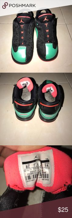 Jordan's Multicolored Toddler Sneakers These are good used condition multicolored sneakers by Jordan for toddler size 8C. These missing the original shoe laces but can be easily replaced. Jordan Shoes Sneakers
