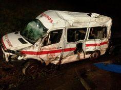 Ambulância dos Bombeiros despista-se na A28