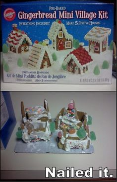 3. Gingerbread Houses