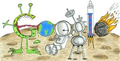 """Google Logo: Doodle4Google 2011 US Winner - """"Space Life"""" By Matteo Lopez from California"""