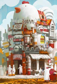 60 Ideas House Illustration Design Art Of Animation Environment Concept Art, Environment Design, Landscape Illustration, Illustration Art, Art Illustrations, Bg Design, Game Design, Animation, Visual Development