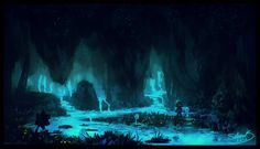 Cools Sketch of the Waterfall Environment in Undertale  Author Notes:One-hour enviro-concept sketch from today, this time with Undertale flavor!Hands-down one of my favorite areas in the game. Thanks for looking!More Undertale fanart from me here- - - - -I'm the original creator of this painting. I'm so happy if you like it, but please don't repost it. Reblog this post instead, thanks!