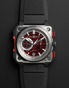 Bell & Ross BR-X1 Hypersonic Chronograph Red Boutique Edition.More watches here.