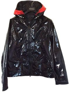 Buy your jacket Emporio Armani on Vestiaire Collective, the luxury consignment store online. Second-hand Jacket Emporio Armani Black in Synthetic available. Giorgio Armani, Emporio Armani, Armani Jacket, Armani Black, Pvc Coat, Victoria Dress, Red Carpet Dresses, Nike Jacket