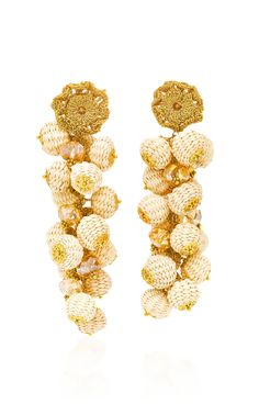 cd024a196afa Basket Weave Cluster Drop Earrings by BIBI MARINI Now Available on Moda  Operandi Pendientes