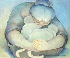 Cat and people paintings. Sandra Biermann - Bountiful 3.