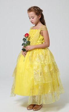 d4861b1a6fe9 Lovely Princess Belle Costume Get yours today and choose your desired  style/colors above. Princess Belle CostumeParty CostumesBaby Girl DressesWedding  ...