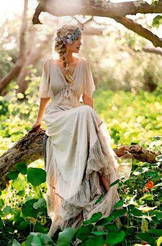 Vintage boho wedding dress