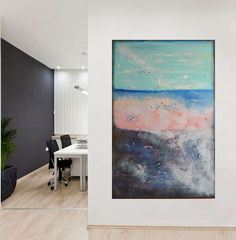 On sale large nature Abstract painting  landscape by VilsanArt, $263.20