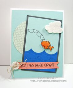 Paper Smooches SPARKS: Nov. 19-25 Cool Shades Challenge--card by SPARKS DT Lori Tecler-using the PS stamp set My Guy