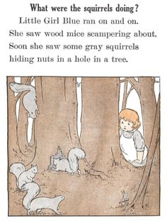 What were the squirrels doing? - Little Girl Blue by Emma Miller Bolenius, 1930