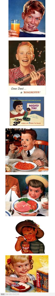 Creepy Kids In Vintage Ads