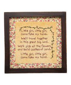 Look what I found on #zulily! 'Little Girl' Stitchery Sign #zulilyfinds