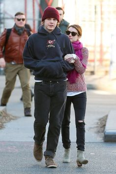 Evan Peters Photos: Emma Roberts & Evan Peters Out And About In NYC